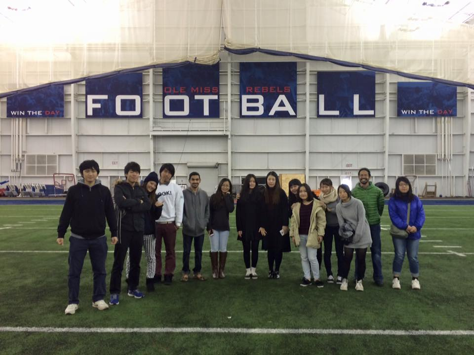 Marco's class visits the Indoor Practice Facility.